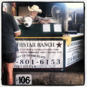 Local farmer at Dallas Farmer's Market