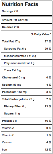 nutrition.facts.for.kind.bars